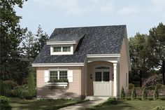 Front elevation of Cottage home (ThePlanCollection: House Plan #138-1201)