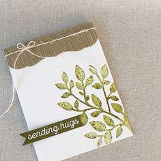 Sending Hugs Card by Lizzie Jones for Papertrey Ink (May 2017)