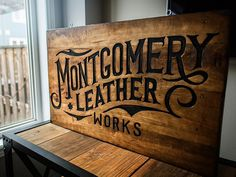 Montgomery Leather Works Sign by Oban Jones #Design Popular #Dribbble #shots