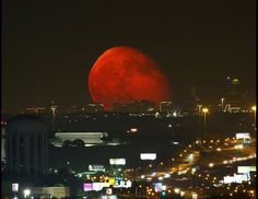 Moonrise over Fort Worth August 14, 2014