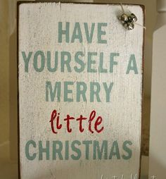 Homemade DIY Christmas Signs & Decor Ideas - A Merry Little Christmas - Click Pic for 18 DIY Christmas Crafts for Family