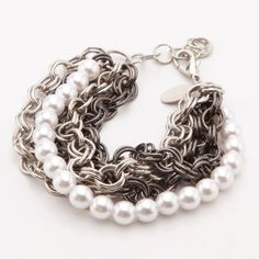 Find it at the Foundary - 5 Strand Chain and Pearl Bracelet $21 sold out!