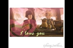 Hiccup and Astrid love scene.