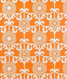 Waverly Fun Floret Citrus Orange Fabric at www.onlinefabricstore.net $15.15 per yard