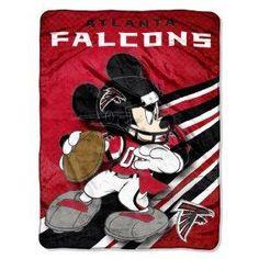 NFL Atlanta Falcons Mickey Mouse Ultra Plush Micro Super Soft Raschel Throw Blanket