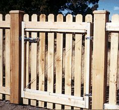 Adjustable gate kit for wood fences shown with a Uni-Latch (UL-103) latch.  Gate frames are adjustable for numerous sizes and incorporate welds, braces, and trusses for a non-sag gate.