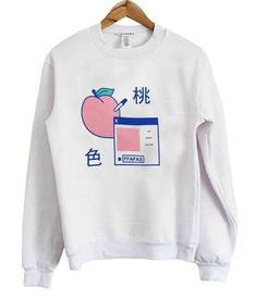 About Japanese Milk & Peach Sweatshirt DN.This Sweatshirt is Made To Order, we print one by one so we can control the quality. Pastel Fashion, Kawaii Fashion, Cute Fashion, Fashion Outfits, Vaporwave Clothing, Vaporwave Fashion, Pretty Outfits, Cool Outfits, Pastel Outfit