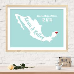 Wedding Guest Book, Custom Wedding Map, Alternative Wedding Guestbook, Unique Wedding Guestbook, Personalized Mexico Name Map - Any State by WillowAndOlive on Etsy