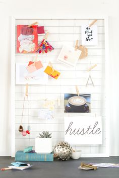 For the Makers: DIY Framed Wire Grid Organizer and Mood Board