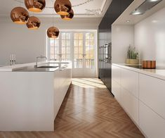 Uno Form - U- serie Black Oak and Glacier White kitchen.