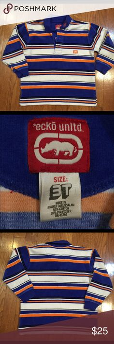 Striped Velour Ecko top. Like knew , very soft , multicolor with stripes. Ecko Unlimited Shirts & Tops Tees - Long Sleeve