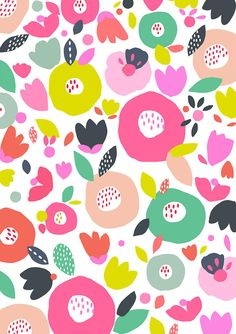FLOWER PATTERN PRINT Plant Drawing, Surface Pattern Design, Mandala, Plant Painting, Mandalas
