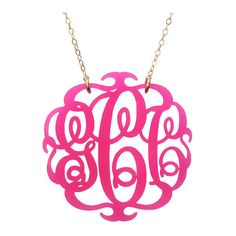 Paris Monogram Necklace ($58) ❤ liked on Polyvore featuring jewelry, necklaces, chain necklaces, monogram jewelry, gold filled chain necklace, monogram necklace and chains jewelry