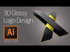 Illustrator Tutorial 3D Glossy Logo Design - YouTube