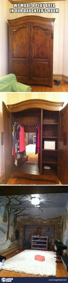So cool! An entrance to Narnia in your HOUSE :)