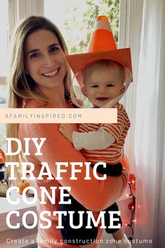How to pull together a family construction costume for Halloween. The perfect costume for children who love diggers and trucks! Cute Costumes For Kids, Family Halloween Costumes, Diy Costumes, Halloween 2020, Costume Ideas, Construction For Kids, Construction Theme, Traffic Cone Costume, Digger Costume