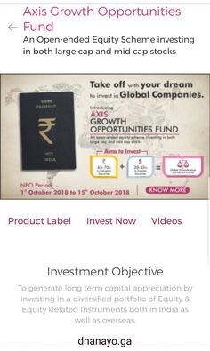 Invest in Axis Growth Opportunities Fund for better portfolio investment. This equity mutual fund invests in large & mid cap stocks. Opportunity, Investing, Cap, Indian, How To Plan, Learning, Baseball Hat, Studying, Teaching