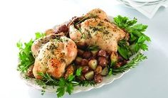 Cornish Game Hens with Red Potatoes   Fresh Ideas with Leigh Ann Web
