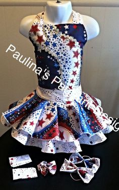 National Pageant Patriotic Casual Wear Dress.  OOC. Size 3-5t #Handmade #DressyEverydayHoliday