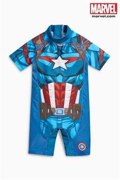 Blue Captain America Sunsafe Suit (3mths-8yrs)