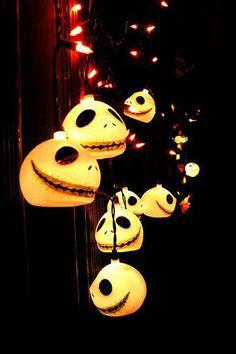 Jack Skellington lights