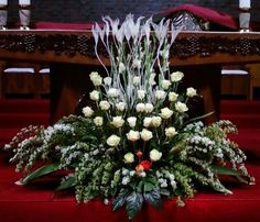 Selecting The Flower Arrangement For Church Weddings – Bridezilla Flowers Altar Flowers, Church Flower Arrangements, Funeral Arrangements, Wedding Ceremony Flowers, Church Flowers, Funeral Flowers, Altar Decorations, Wedding Decorations, Flower Festival