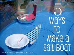 How to make a toy boat - ideas for junk models that really sail
