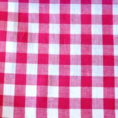 Pippa Check - Shocking Pink Gingham, Fabrics, Colour, Check, Pink, Tejidos, Color, Cloths, Pink Hair
