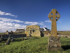 Medieval Burial Ground and Chapels, at Howmore, South Uist, Outer Hebrides, Scotland Photographic Print by Patrick Dieudonne at Art.com