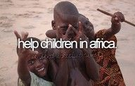 I want to make a difference in the world