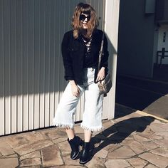 """Hoje eu vou montar um look colorido!"" Aham. Vai. Look Vintage, Duster Coat, Photo And Video, Black And White, Instagram, Jackets, Fashion, Style, Down Jackets"