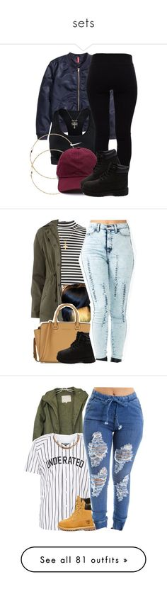 """sets"" by simoneswagg ❤ liked on Polyvore featuring H&M, NIKE, Helmut Lang, Forever 21, Timberland, women's clothing, women's fashion, women, female and woman"