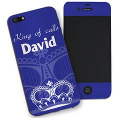 Personalised Blue Crown iPhone 5 Skin  from Personalised Gifts Shop - ONLY £7.99