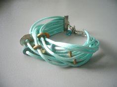 Teal bracelet by stavroula on Etsy, $19.00