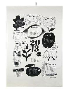 Napa Books — Kauniste kitchen towel Calendar 2013 by Sanna Mander