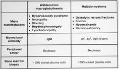 Image result for multiple myeloma vs waldenstrom's macroglobulinemia