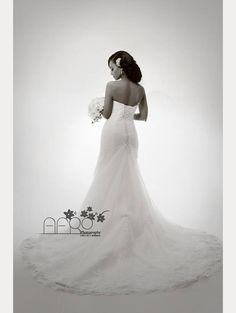 gorgeous black and white bridal portrait of Kalkida in her Sophia Tolli Talisa gown ~  we ❤ this! moncheribridals.com