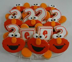 Elmo Birthday Cookies