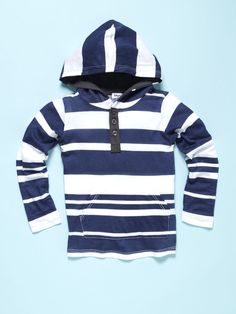 Boys Stripe Hood Henley by Splendid on Gilt.com