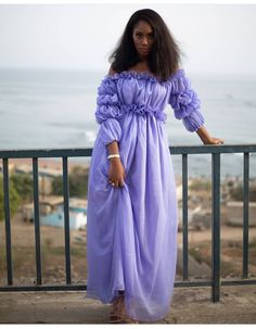 Long African Dresses, Latest African Fashion Dresses, African Traditional Dresses, Traditional Outfits, Striped Maxi Dresses, Casual Dresses, Muslim Fashion, Chic Dress, Fashion Outfits