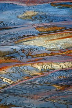 Grand Prismatic Runoff Photograph  - Yellowstone National Park - Wyoming - USA