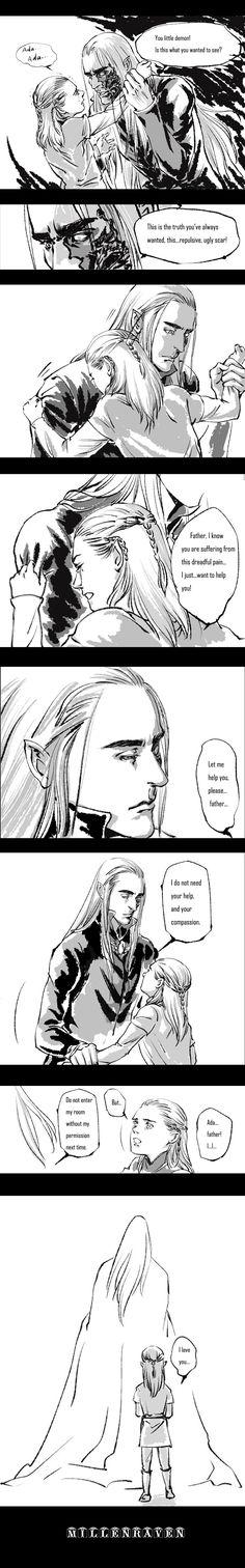 Thranduil and Legolas | The Phantom of Mirkwood manga by millenraven on DeviantArt