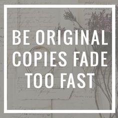 Copy, be original.. mcr                                                       …