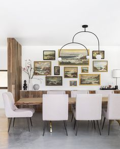 A Modern and Organic Dining Room Makeover Reveal @cryptonfabric $ @dominomag