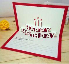Happy birthday kirigami