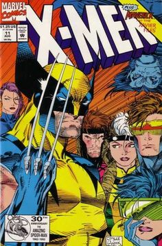 X-Men cover art by Jim Lee Marvel Dc Comics, Archie Comics, Marvel Comic Books, Comic Book Characters, Comic Book Heroes, Comic Character, Comic Books Art, Hulk Comic, Dc Comics Heroes