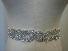 New Year SALE - Wedding Belt, Bridal Belt, Sash Belt, Bridesmaid Belt - Crystal Rhinestone - Style B146 on Etsy, $49.00