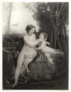 Mythology Print Mother & Child 1883 Salon Art Print Artistic Nude - Diggit Victoria Salon Art, Art Supply Stores, Nude, Printing Press, Women's Slippers, Old Art, Art Prints, Mother And Child, Picture Show