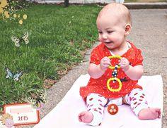 8 month old baby book digital scrapbook page using Be Bold Bundle at Pixelscrapper