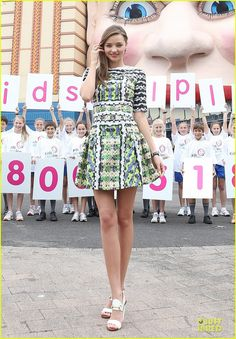 """Miranda Kerr became the new ambassador for the """"Kids Helpline"""" for youth aged between 5 and 25 year olds in Australia, on feb 12th 2013 (she's at Sydney's Luna Park)"""
